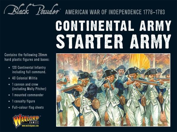Warlord Games- Black Powder- American War of Independence Continental  Starter Army Set